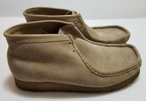 Clarks Originals Wallabees Men Chukka Boots Suede Cream Size 11.5