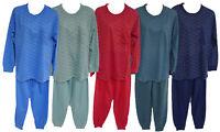 Herren Schlafanzug Pyjama lang rot mint blau Gr. S M L XL XXL