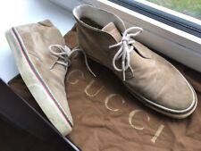 RARE Gucci Men's Beige Suede Leather Shoes Size 10