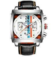 Homage White Face Monaco 24 racing mens mechanical automatic watch ONE ONLY 🇬🇧