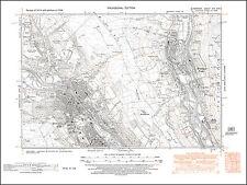 Mountain Ash N, Merthyr Vale, Aber-fan, old map Glamorgan 1948: 19NW repro Wales