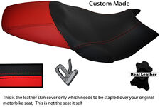 RED & BLACK CUSTOM FITS GILERA DNA 50 125 180 REAL LEATHER DUAL SEAT COVER