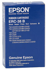10 Pack of  ERC-38B Genuine EPSON Printer Ribbon Cartridges  BLACK  C43SO15374