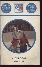 1972/73 NHL New York Rangers Yearbook VG/EX
