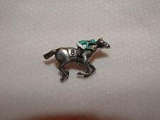 NEW DALAKHANI HAND PAINTED HORSE RACING JOCKEY SILKS PIN