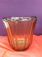 Vintage Green Clear Vase