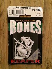 Reaper, Bones, Dark Heaven miniature: Orc Spearmen (3)