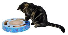 Scratching Drum With Toys Ø 33 Cm Blue - Trixie Cats Kitten Cardboard Play