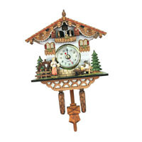 Retro Wooden Alarm Clock Cuckoo Coo Living Room Bedroom Wall Clock