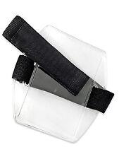 Arm Band Photo ID Badge Holder Vertical w/ Elastic Black Strap - Pack of 25 pcs