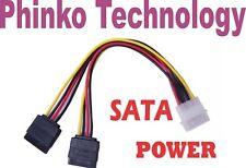 BRAND NEW 4 Pin IDE Molex to 2 SATA Power Cable Splitter Adapter