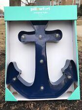 Anchor LED Lights Metal Wall Decor Nautical Ocean Seaside Ship Boat 3D Deep