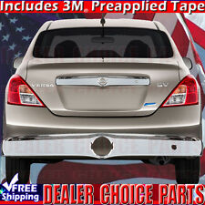 For 2012-2017 NISSAN VERSA Chrome ABS Tailgate Accent COVER Overlay Trim W/KHole