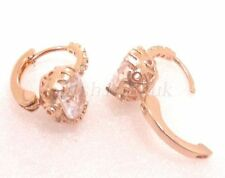 Cubic Zirconia Rose Gold Plated Oval Costume Earrings