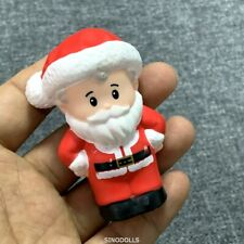 """2.5"""" Fisher Price Little People CHRISTMAS SANTA FIGURE DOLL for HOLIDAY Rare"""