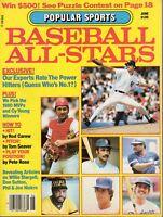 1980 June Popular Sports All-Stars Baseball magazine, Johnny Bench, Jim Rice~VG