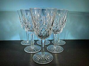"Waterford 6 Lismore Crystal   Wine Water GobletsFABULOUS 7"""