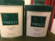 Lot of 2 Yardley lily of the valley Perfumed Talc Discontinued