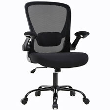 Home Office Chair Mid back Adjustable with Lumbar Support Arms Swivel Rolling