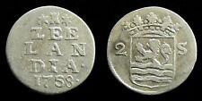 Netherlands / Zeeland - Dubbele Wapenstuiver 1758 ~ CNM 2.49.95