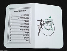 JIM FURYK SIGNED AUGUSTA NATIONAL GOLF MASTERS TOURNAMENT SCORECARD PROOF J1