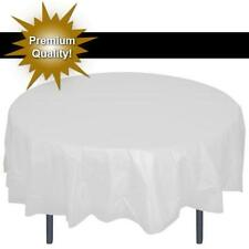 "Premium Plastic Table Covers 84"" ROUND HEAVY DUTY TABLECLOTH disposable-30 color"