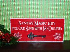 """""""Santa's Magic Key"""" wooden Christmas sign"""