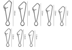 Hooked Snap Links, For Booms Swivels Zip Sliders Fishing Tackle Rigs Sizes 1 - 8