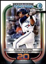 Austin Martin 2021 Bowman 5x7 Scout's Top 100 #BTP-20 /49 Blue Jays