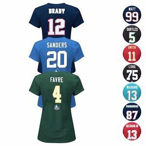 """NFL Assortment of """"Fair Catch"""" Team Player Jersey T-Shirt Collection - Women's"""