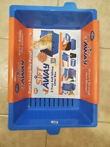 SIFTING CAT LITTER PAN Large 3 Part Pet Cleaning System Kitty Slotted Tray Box