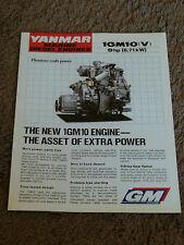 Yanmar Marine Diesel Engine 1GM10 1GM10V Dealer Sales Brochure Specifications