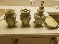 4pc bathroom accessories