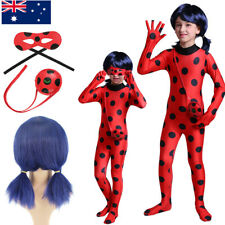 AU Girls Miraculous Ladybug Cosplay Costume Jumpsuit Outfits Tight Fancy Dress