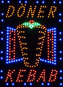 """LED Schild XXL """" DÖNER KEBAB """" Werbeschild Neon Leuchtreklame  Hinweisschild"""