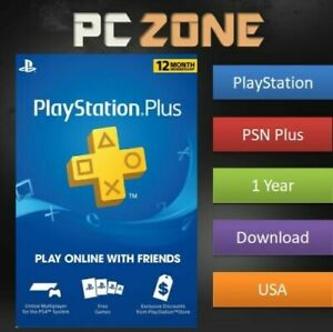 Sony PlayStation PS Plus 12-Month / 1 Year PSN Membership Subscription