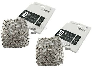 1or 2Pak Wippermann Connex 10S1 10 Speed Bike Silver Chain Nickle & SS Plates