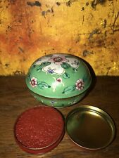Vintage Chinese Red Ink for artists seal with porcelain holder
