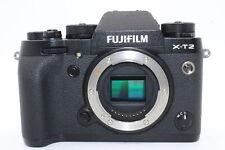 Fujifilm X-T2 Body 24MP Black Mirrorless Camera - SHUTTER COUNT IS 23!! + EXTRAS