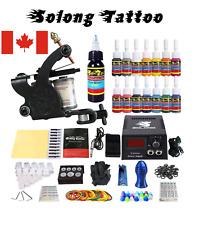 Solong Tattoo Complete Tattoo Kit 1 Pro Machine Guns 14 Inks Power Supply Needle