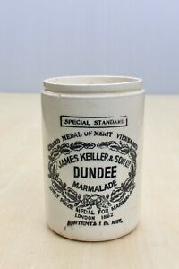 VINTAGE 1920s 1lb JAMES KEILLER & SONS DUNDEE SPECIAL STANDARD MARMALADE POT JAR