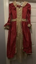 Disney Belle Christmas Dress Costume Girls Size 10/12 One Of A Kind