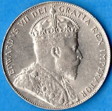 Canada Newfoundland 1909 50 Cents Fifty Cents Silver Coin - AU/UNC