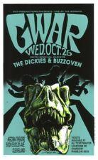 Gwar POSTER The Dickies Buzzoven Derek Hess Silkscreen Signed Numbered