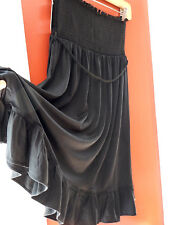 8eb1c47580c2f Juicy Couture Black Smocked Strapless Cover up Belted Tie Dress S