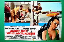 T01 FOTOBUSTA AGENTE 007 VIVI E LASCIA MORIRE ROGER MOORE JAMES BOND SPY CULT 2
