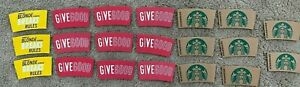 Mixed Lot Of Rare Starbucks Coffee Cup Sleeves Lot Of 20 Pre-Owned Used