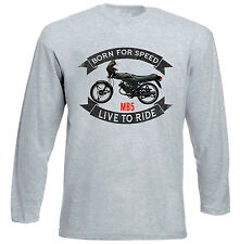 HONDA MB5 - GREY LONG SLEEVED TSHIRT- ALL SIZES IN STOCK