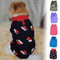 Small Pet Dog Winter Warm Fleece Vest Clothes Coat Puppy Warm Sweater Jacket