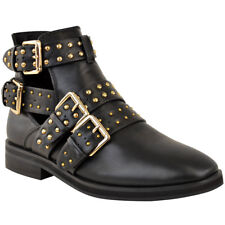 Ladies Ankle Low Heel Womens Chelsea Dealer Studded Shoes Boots UK Size 3-8 Sale